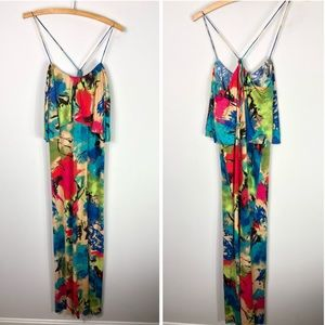 T Bags Los Angeles Maxi Dress Colorful Sleeveless